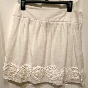Maurices White Skirt with Flowers